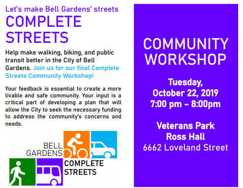 COMPLETE STREETS, Community Workshop
