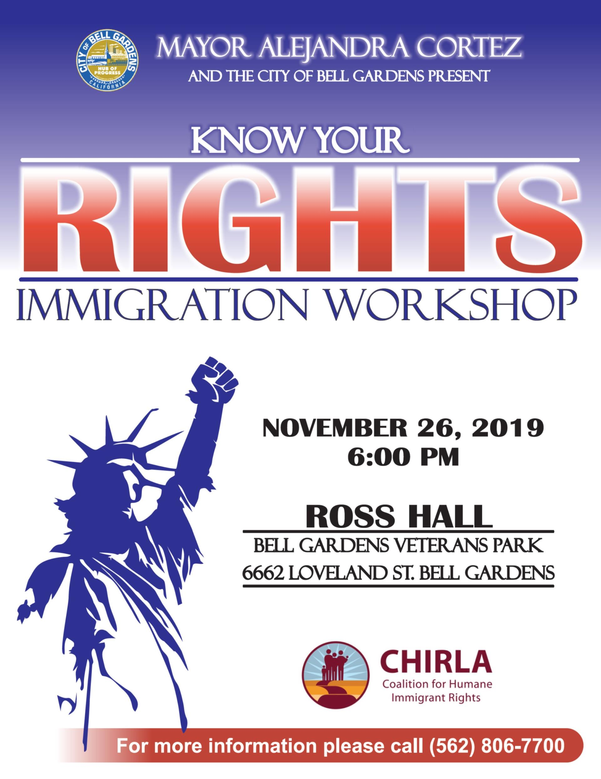 Know Your Immigration Rights Workshop