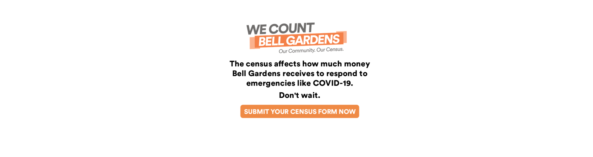 2020 Census We Count Webpage Banner