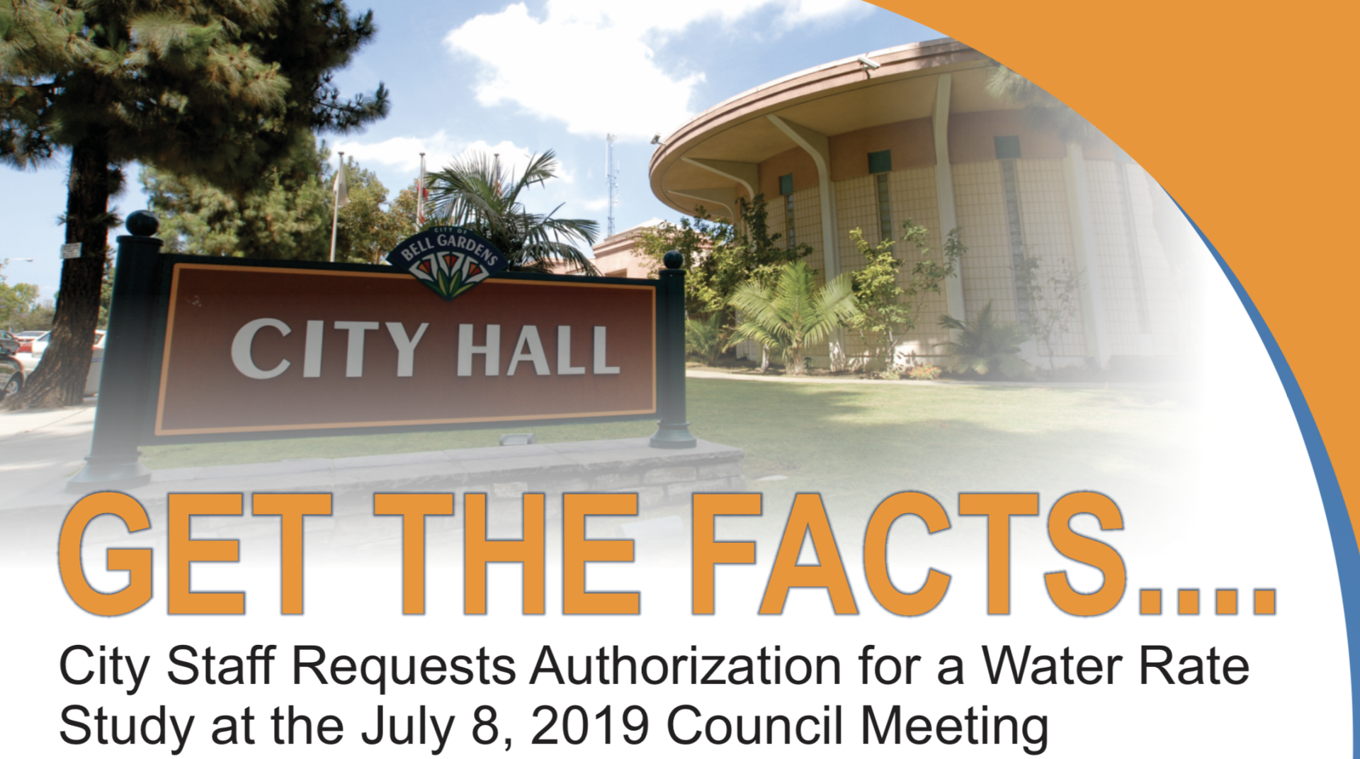 City Staff Requests Authorization for a Water Rate Study at July 8, 2019 Council Meeting